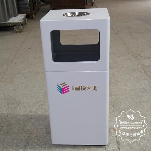 方形室内喷塑铁板垃圾桶果皮箱图片001