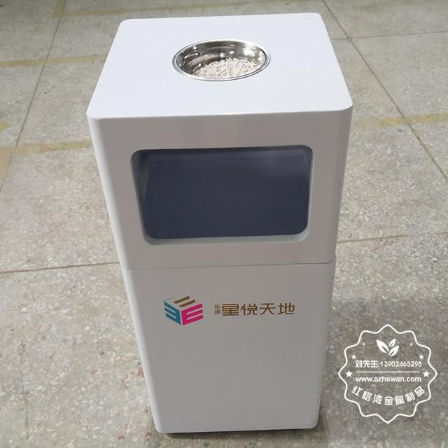 方形室内喷塑铁板垃圾桶果皮箱图片002