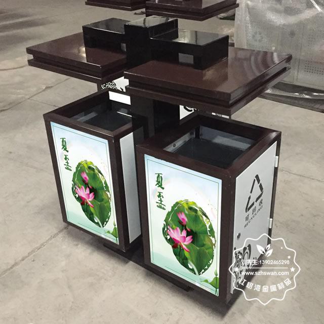 UV打印钢制垃圾箱