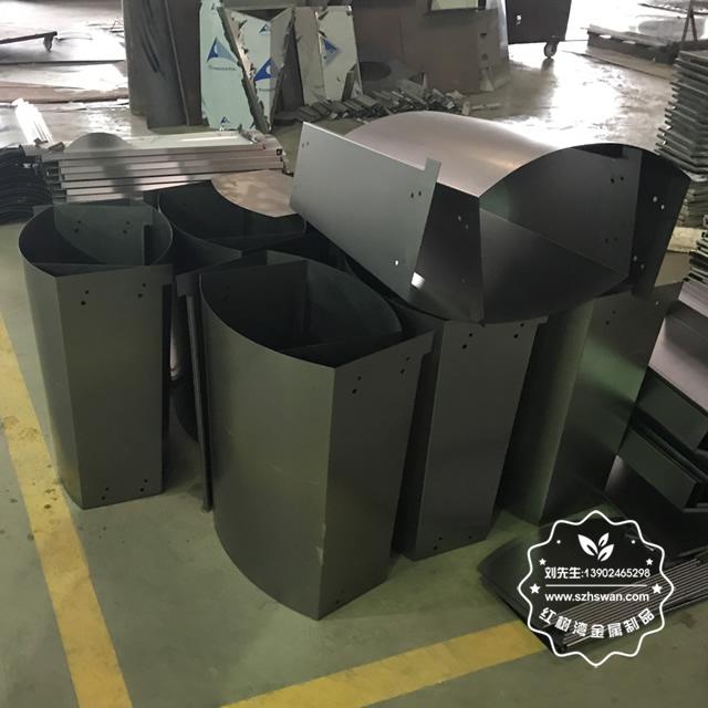 户外市政道路不锈钢垃圾桶图片03