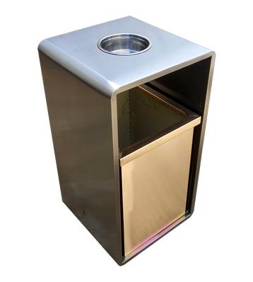 室内电梯口方形钢制果皮箱主图