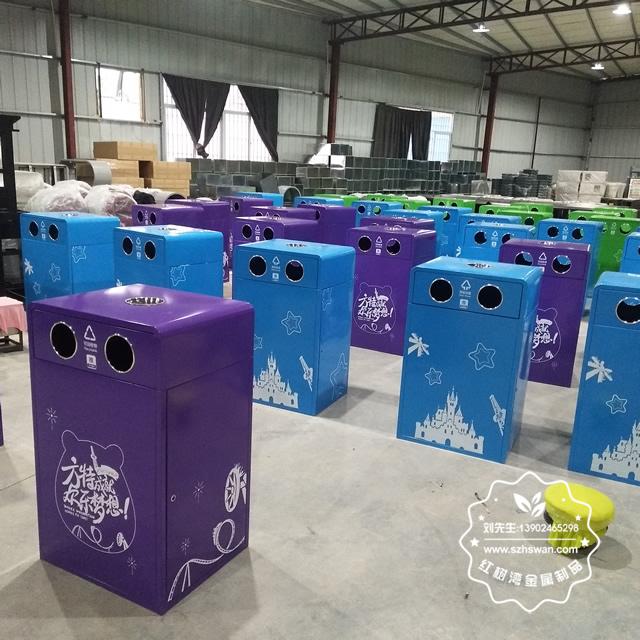 钢板钢制分类垃圾桶图片02