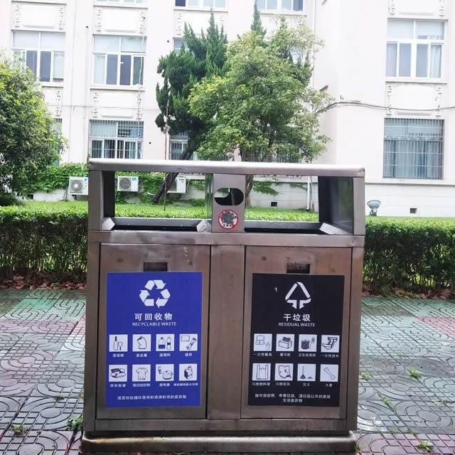 校园不锈钢垃圾桶01