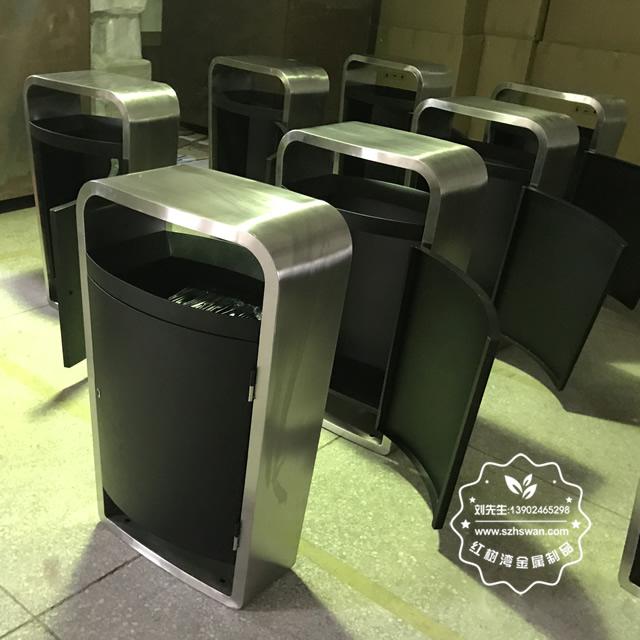 高档精品不锈钢垃圾桶图片03