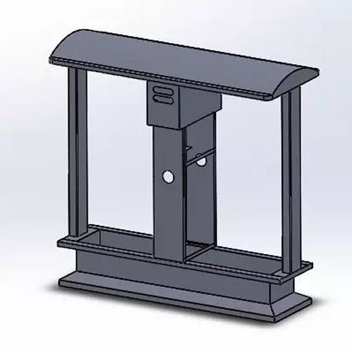 户外分类不锈钢垃圾桶结构图3