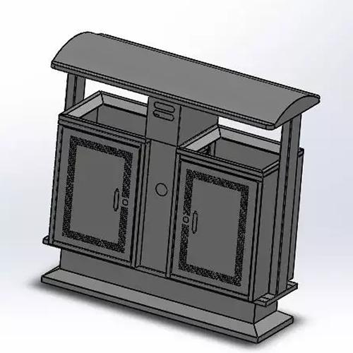 户外分类不锈钢垃圾桶结构图5
