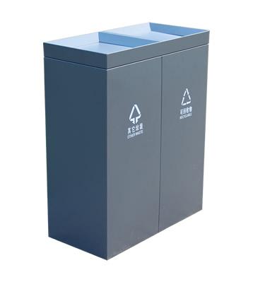 喷塑摇盖式室内分类垃圾桶