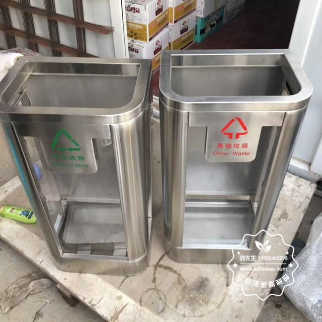 地铁站防爆不锈钢垃圾桶图片01