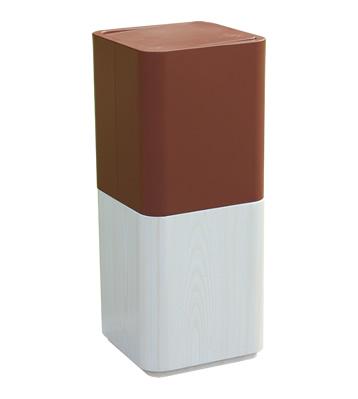 电镀仿木纹室内方形不锈钢果皮箱