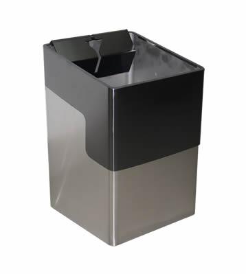 室内立式直投口方形不锈钢果皮箱