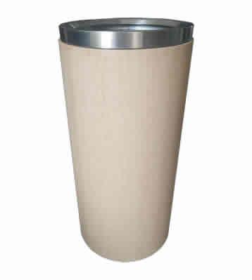 室内仿木纹圆柱形不锈钢垃圾桶