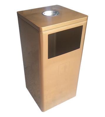 腐刻电镀土豪金不锈钢垃圾桶
