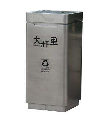 室内方形摇摆盖不锈钢分类垃圾桶
