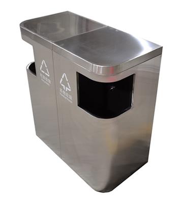 室内外组合式两分类不锈钢垃圾桶