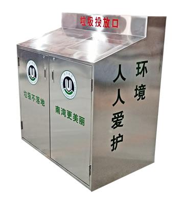街道办户外不锈钢分类垃圾桶主图