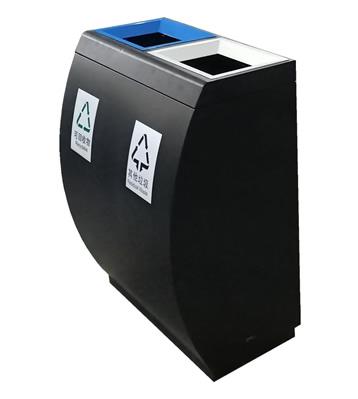 室内直投口喷塑分类不锈钢垃圾桶
