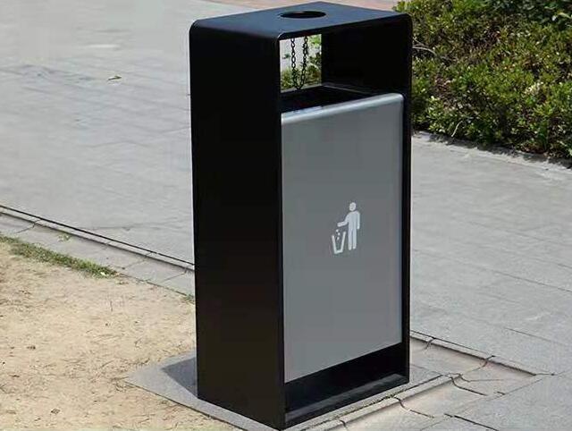 不锈钢垃圾桶激光打标