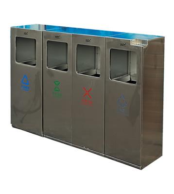 户外广场组合式不锈钢分类垃圾桶主图