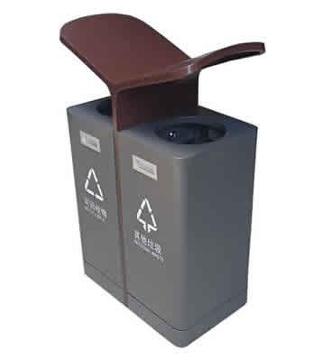 户外翼形喷塑不锈钢分类垃圾箱主图