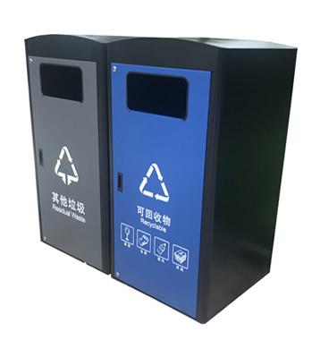 深圳市政道路不锈钢分类垃圾箱体套桶桶罩主图