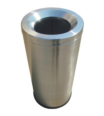 不锈钢圆形斜口垃圾筒主图