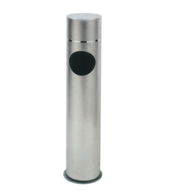 不锈钢圆形垃圾柱