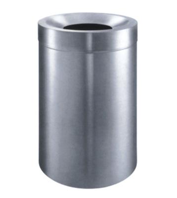 不锈钢圆形斜口垃圾桶