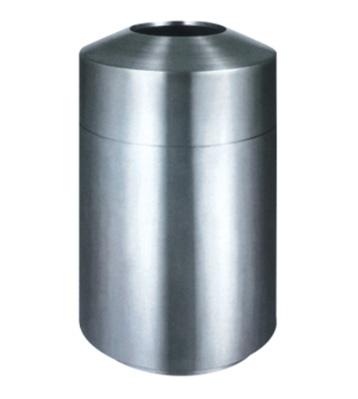 室内立式单桶不锈钢垃圾桶