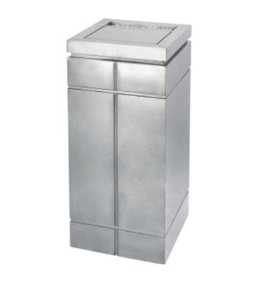 商场不锈钢方形垃圾桶