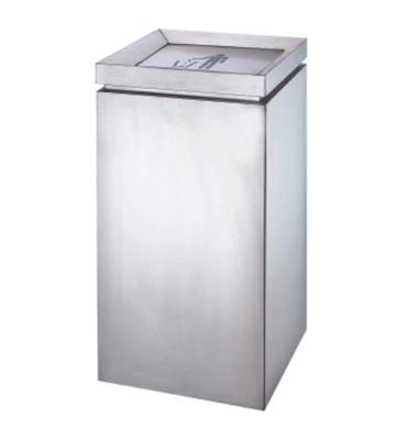 商场电梯口不锈钢垃圾桶