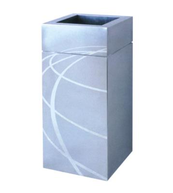 不锈钢蚀刻方形垃圾桶