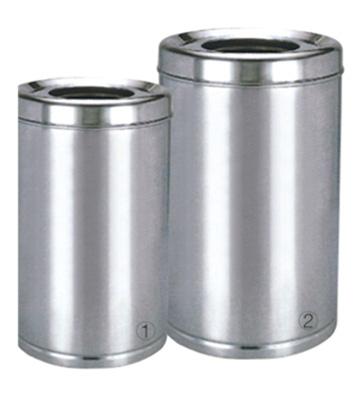 小型常用立式圆形不锈钢垃圾桶