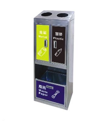 立式商场不锈钢分类环保回收桶