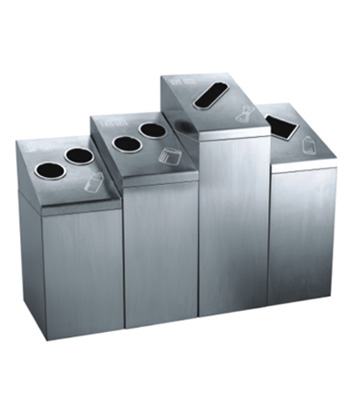 室内废纸瓶罐不锈钢四分类垃圾桶主图