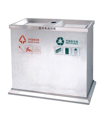 分类环保不锈钢垃圾桶主图