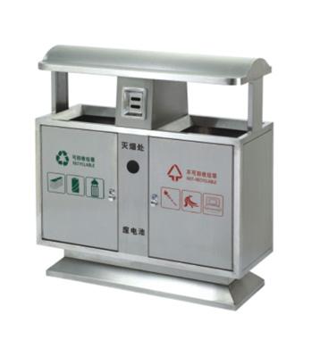 户外景区常用不锈钢分类环保垃圾桶