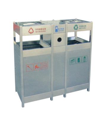 不锈钢分类环保垃圾桶主图