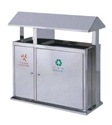 室内不锈钢屋形分类垃圾桶