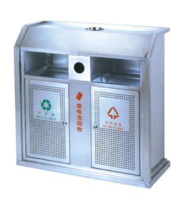 常用城市环保不锈钢分类垃圾箱
