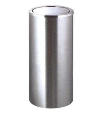 不锈钢港式翻盖垃圾桶