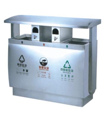 户外不锈钢分类环保垃圾桶主图