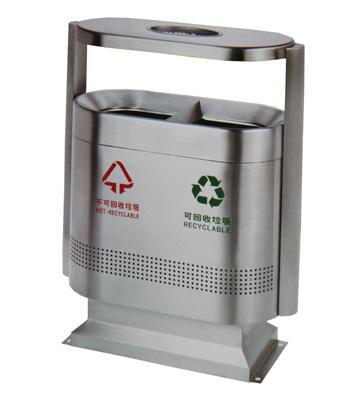 不锈钢环卫分类垃圾桶