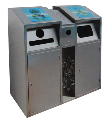 环卫不锈钢分类垃圾箱