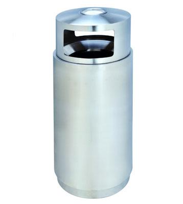 不锈钢圆形单桶垃圾桶
