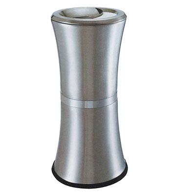高档创意立式小蛮腰不锈钢垃圾桶