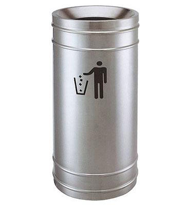 圆形斜口不锈钢垃圾筒