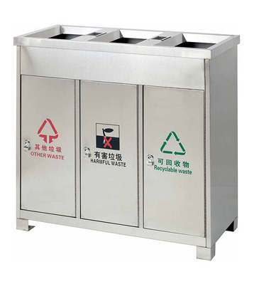 三分类环保地铁垃圾桶