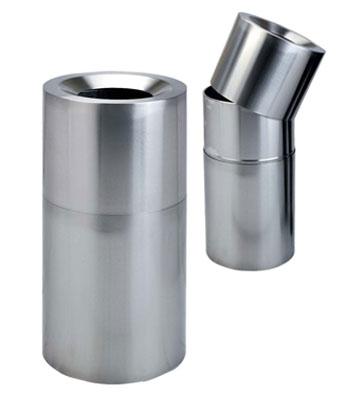 不锈钢圆形商场垃圾桶