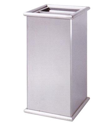 立式室内方形不锈钢座地垃圾桶