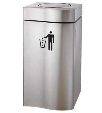 摇盖室内酒店办公室商用不锈钢垃圾桶
